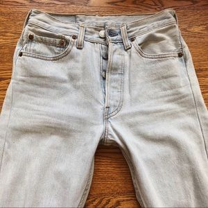 Vintage ULTRA light wash tailored 501s